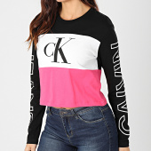 /achat-t-shirts-manches-longues/calvin-klein-jeans-tee-shirt-crop-femme-manches-longues-blocking-statement-logo-3125-noir-blanc-rose-203488.html