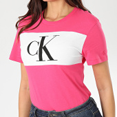 /achat-t-shirts/calvin-klein-jeans-tee-shirt-femme-blocking-monogram-ck-3183-rose-blanc-203494.html