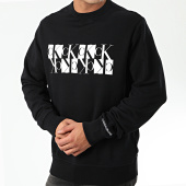 /achat-sweats-col-rond-crewneck/calvin-klein-jeans-sweat-crewneck-mirrored-monogram-4125-noir-203648.html