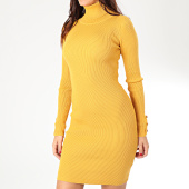/achat-robes/girls-only-robe-manches-longues-femme-a-col-roule-m202-jaune-moutarde-203655.html