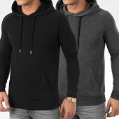 /achat-sweats-capuche/lbo-lot-de-2-sweats-capuche-969-gris-anthracite-et-noir-203670.html