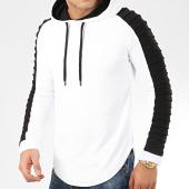 /achat-sweats-capuche/lbo-sweat-capuche-oversize-avec-details-noir-878-blanc-203673.html