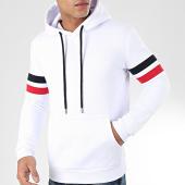 /achat-sweats-capuche/lbo-sweat-capuche-avec-bandes-bleu-et-rouge-944-blanc-203674.html
