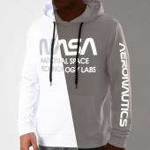/achat-sweats-capuche/nasa-sweat-capuche-technology-labs-reflective-blanc-203505.html