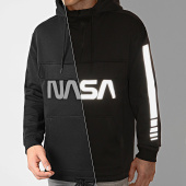 /achat-sweats-capuche/nasa-sweat-outdoor-col-zippe-worm-logo-reflective-noir-203514.html