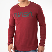 /achat-t-shirts-manches-longues/nasa-tee-shirt-manches-longues-worm-logo-bordeaux-203574.html