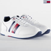 /achat-baskets-basses/tommy-hilfiger-baskets-corporate-leather-flag-runner-2602-white-203513.html