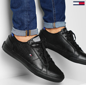 /achat-baskets-basses/tommy-hilfiger-baskets-core-corporate-flag-sneaker-2593-black-203489.html