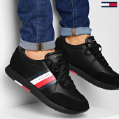 /achat-baskets-basses/tommy-hilfiger-baskets-corporate-leather-flag-runner-2602-black-203499.html