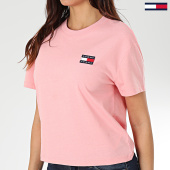 /achat-t-shirts/tommy-jeans-tee-shirt-femme-tommy-badge-6813-rose-203517.html