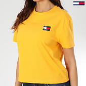 /achat-t-shirts/tommy-jeans-tee-shirt-femme-tommy-badge-6813-jaune-203519.html