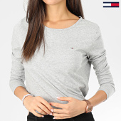 /achat-t-shirts-manches-longues/tommy-jeans-tee-shirt-manches-longues-femme-soft-jersey-6900-gris-chine-203526.html