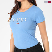 /achat-t-shirts/tommy-jeans-tee-shirt-femme-essential-slim-logo-7524-bleu-clair-203533.html
