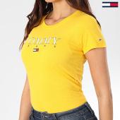 /achat-t-shirts/tommy-jeans-tee-shirt-femme-essential-slim-logo-7524-jaune-203536.html