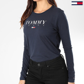 /achat-t-shirts-manches-longues/tommy-jeans-tee-shirt-manches-longues-femme-essential-logo-7525-bleu-marine-203538.html