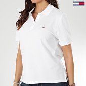 /achat-polos-manches-courtes/tommy-jeans-polo-manches-courtes-femme-tommy-classics-7641-blanc-203548.html