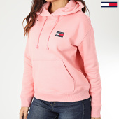 /achat-sweats-capuche/tommy-jeans-sweat-capuche-femme-tommy-badge-7787-rose-pastel-203553.html