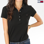 /achat-polos-manches-courtes/tommy-hilfiger-polo-manches-courtes-slim-femme-new-chiara-6661-noir-203582.html