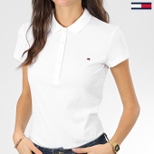 /achat-polos-manches-courtes/tommy-hilfiger-polo-manches-courtes-slim-femme-new-chiara-6661-blanc-203583.html