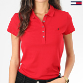 /achat-polos-manches-courtes/tommy-hilfiger-polo-manches-courtes-slim-femme-new-chiara-6661-rouge-203584.html