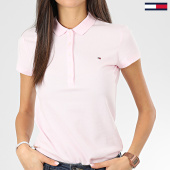 /achat-polos-manches-courtes/tommy-hilfiger-polo-manches-courtes-slim-femme-new-chiara-6661-rose-203586.html