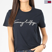 /achat-t-shirts/tommy-hilfiger-tee-shirt-femme-heritage-4967-bleu-marine-203596.html