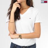 /achat-t-shirts/tommy-hilfiger-tee-shirt-col-v-femme-heritage-4969-blanc-203600.html