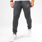 /achat-pantalons-joggings/final-club-pantalon-jogging-damier-avec-broderie-317-noir-gris-203753.html