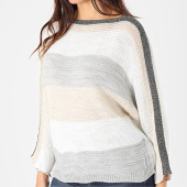 /achat-pulls/girls-only-pull-femme-a-bandes-pu48-beige-blanc-gris-argente-203719.html