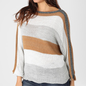 /achat-pulls/girls-only-pull-femme-a-bandes-pu48-camel-blanc-gris-argente-203720.html