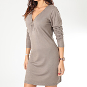 /achat-robes/girls-only-robe-pull-col-zippe-femme-a8503-taupe-203741.html