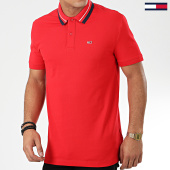 /achat-polos-manches-courtes/tommy-jeans-polo-manches-courtes-classics-tipped7195-rouge-203686.html