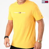 /achat-t-shirts/tommy-jeans-tee-shirt-straight-small-logo-7621-jaune-203706.html