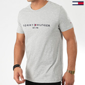 /achat-t-shirts/tommy-hilfiger-tee-shirt-core-tommy-logo-1465-gris-chine-203717.html