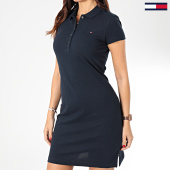 /achat-robes/tommy-hilfiger-robe-polo-manches-courtes-femme-heritage-4973-bleu-marine-203747.html