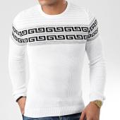 /achat-pulls/john-h-pull-h-004-blanc-noir-argente-renaissance-203817.html