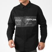 /achat-chemises-manches-longues/sixth-june-chemise-jean-manches-longues-m3972csh-noir-reflechissant-203871.html