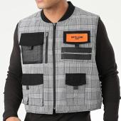 /achat-cardigans-gilets/sixth-june-gilet-zippe-a-carreaux-m4005cja-gris-203879.html