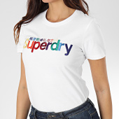 /achat-t-shirts/superdry-tee-shirt-slim-femme-classic-rainbow-embroidered-entry-w1000057a-blanc-203830.html