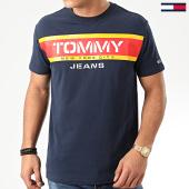 /achat-t-shirts/tommy-jeans-tee-shirt-panel-logo-7434-bleu-marine-203845.html