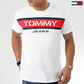 /achat-t-shirts/tommy-jeans-tee-shirt-panel-logo-7434-blanc-203846.html
