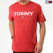 /achat-t-shirts/tommy-jeans-tee-shirt-tommy-textured-7438-rouge-chine-203847.html