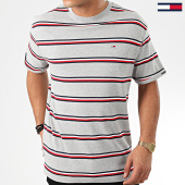 /achat-t-shirts/tommy-jeans-tee-shirt-a-rayures-multicolore-stripe-7460-gris-chine-203854.html
