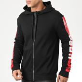 /achat-sweats-zippes-capuche/hugo-by-hugo-boss-sweat-zippe-capuche-a-bandes-reverse-logo-dalz-50421654-noir-204027.html