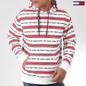 /achat-sweats-capuche/tommy-jeans-sweat-capuche-branded-stripe-7399-blanc-rouge-203960.html