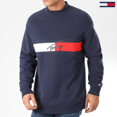 /achat-sweats-col-rond-crewneck/tommy-jeans-sweat-crewneck-jacquard-flag-7407-bleu-marine-203961.html