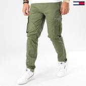 /achat-pantalons-cargo/tommy-jeans-pantalon-cargo-dobby-7593-vert-kaki-203972.html