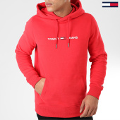 /achat-sweats-capuche/tommy-jeans-sweat-capuche-straight-small-logo-7622-rouge-203978.html