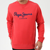 /achat-sweats-col-rond-crewneck/pepe-jeans-sweat-crewneck-albert-pm581721-rouge-204101.html