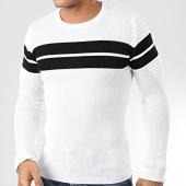 /achat-pulls/john-h-pull-h-018-blanc-noir-204216.html